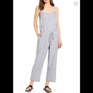Rails Grey Striped Jumpsuit Size Small